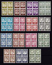 Berlin 1961 postfrisch VB Satz Bedeutende Deutsche MiNr. 199-213  /(2)