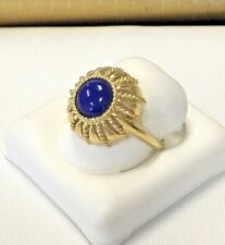 Unique Bold Right hand 18k Gold Lapis Lazuli Ladies  Ring  7.4 Grams Size8 Lot13