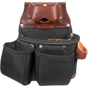 Occidental Leather B8018DB Black OxyLights 3 Pouch Bag with Tape Measure Pouch