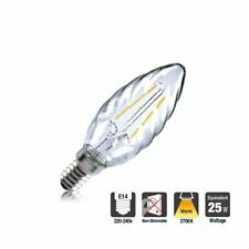 LED Clear Twisted Candle Bulb 2W (25W) Warm-White Small-Screw-Fitting (E14)