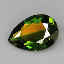 8.55Ct Man Made Bi Color Glass Yellow Green Oval Cut MQYG23