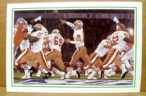 "1992 SF 49ers Joe Montana Advertising Card for Artwork 4' X 6"" - Nr Mt"