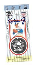 Cal Ripken Jr Autograph 1991 all-star Ticket  Ripken was MVP of the game