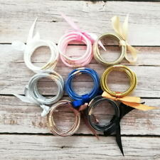 Kids Bow Bangle Bracelets Set All Weather Glitter Tube Jelly Bangles
