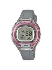 Casio Kinderuhr Damenuhr Uhr Mädchen Grau Digital Alarm LW-203-8AVEF