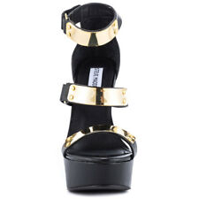 Steve Madden Whitneyy Platform Wedge Sandals Black Sz 7 New $ 109