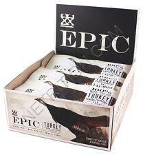 Epic TURKEY Almond + Cranberry Jerky Bar Gluten Free BOX OF 12 BARS