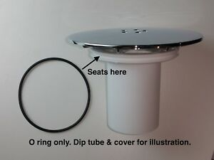 Replacement dip tube O ring seal for High-Fast Flow, Shower tray waste.