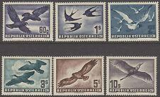 Austria 1950 Birds Air stamps 60g to 10s MNH superb!