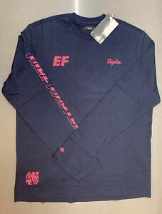 Rapha EF Pro Cycling Long Sleeve T-Shirt Dark Navy Medium New With Tag