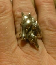 Vintage Sterling Horse Head Ring Size 7