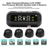 Car Wireless Solar LCD Screen TPMS Tire Pressure Monitoring System With 4 Sensor