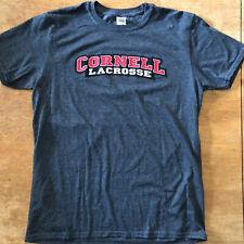 Cornell Lacrosse T-Shirt Men's Large Gray