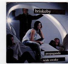 (EZ243) Briskeby, Propaganda / Wide Awake - 2001 DJ CD