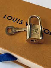 LOUIS VUITTON AUTH LOCK KEY PADLOCK- POLISHED! Comes In LV GIFT BOX   USA SELLER
