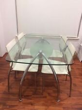 Glass Fixed Dining Sets 7 Pieces