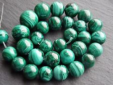20Pcs 8MM Fashion Malachite Bead Round Loose Spacer Beads For DIY Jewelry Making