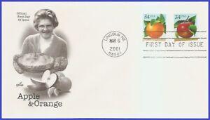 USA5 #3491-92 U/A ARTCRAFT FDC   Apple & Orange