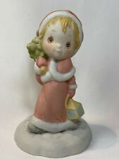 Betsey Clark Friend with Lantern & Christmas Tree Porcelain Figurine