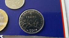 1 F Fr Franc 1994 SCELLEE coffret Monnaie de Paris BU FLEUR DE COIN FDC NEUF