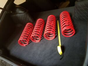 4x Datsun 240z new coil springs, suspension springs lowered 50mm