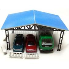 1:87 Model Layout Building Parking Shed With 2 Fences 2 Benches HO Scale Kit
