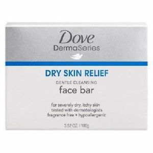 Dove Derma Series • Dry Skin Relief • Gentle Cleansing Face Bar • 2 X 3.5oz Bars
