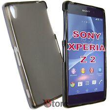 Cover Custodia Per Sony Xperia Z 2 Z2 Grigio Retro Opaco Gel TPU