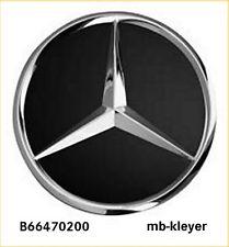 Alufelgen Stern 1 Satz Naben-Kappen Originalteil Mercedes Benz B66470200 schwarz