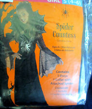 Spider Countess Halloween Costume~Girls Size Small (4-6)~New In Package