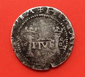 VERY RARE SPANISH COB 1 REAL CARLOS Y JUANA MEXICO MINT ASSAYER P (1541-1542)