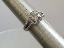 3.50ct HALO ROUND CUT diamond engagement Ring 14k WHITE GOLD NATURAL F SI2