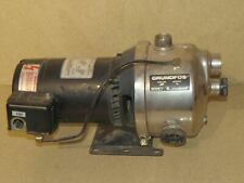 GENERAL ELECTRIC GRUNDFOS BOOSTER PUMP TYPE JS7 MOTOR HP 3/4 (AA)