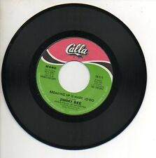 JIMMY BEE 45 RPM Promo Record BREAKING UP IS HARD TO DO Soul Funk CALLA MINT