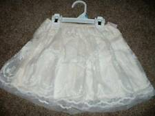 Carters 5T Girls Ivory Tulle Embroidered Flower Skirt Size 5 Toddler NWT NEW