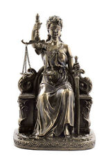 Goddess of Justice Themis or Lady Justice Statue Holding Scales #WU75268A4