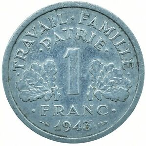 COIN / FRANCE 1 FRANC 1943 BEAUTIFUL COLLECTIBLE  #WT29624