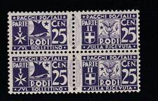 FRANCOBOLLI - 1934 REGNO EGEO PACCHI POSTALI C.25 IN COPPIA MNH C/1423