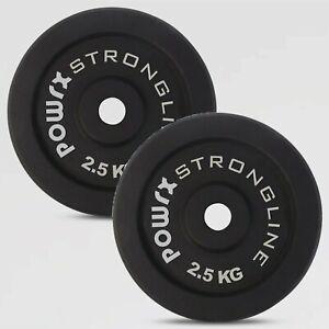POWRX Hantelscheiben Set Gewichtscheiben Gusseisen Hantelset 5 - 40 kg I Ø30 mm