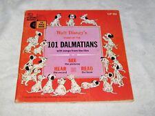1965 Early Read Along Book & Record Walt Disney's 101 Dalmatians  LLP305