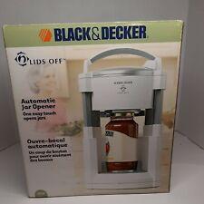 Black and Decker Lids Off Automatic Jar Opener, Model Jw200, New!