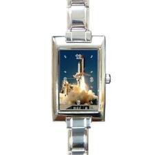 NASA Space Shuttle Rectangular Italian Charm Watch RT43