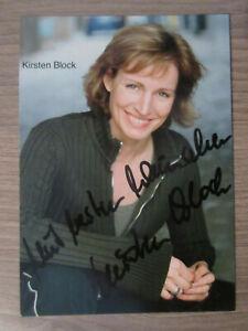 Kirsten Block original handsignierte Autogrammkarte / T5
