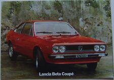 Lancia Beta Coupe Series 2 1600 2000 1976-77 Original UK Market Sales Brochure