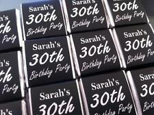 100 x Personalised Mint Chocolate Neapolitan Favour Birthday Black & Silver