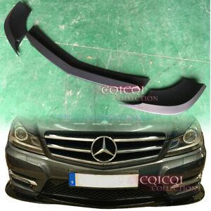 Gloss Black M-BENZ 12~14 C204 C250 C350 coupe GH type front lip spoiler 3PCS ◎