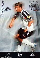 Lukas Podolski Germany * ROOKIE * Rare Promo Glossy Postcard 2004