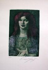 """Ernst Fuchs """"Schönheit mit rotem Haar"""""""
