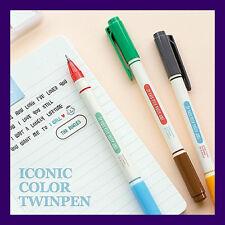 Ballpoint Pen Biros - Iconic Color Twinpen Set Twin Biros ( 3 Biros 6 Colors )