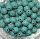 Wholesale Turquoise Gemstone Round Loose Spacer Beads Jewelry Making 4/6/8/10mm